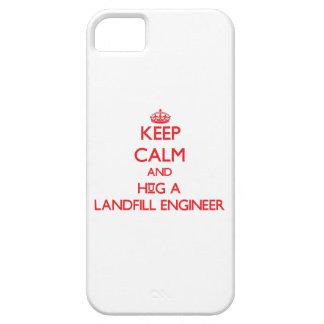 Keep Calm and Hug a Landfill Engineer iPhone 5 Case