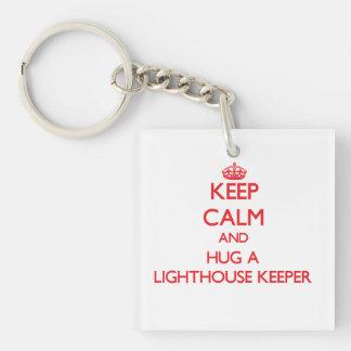 Keep Calm and Hug a Lighthouse Keeper Acrylic Keychain