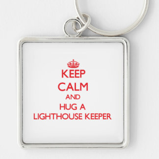 Keep Calm and Hug a Lighthouse Keeper Key Chains