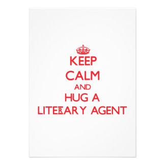 Keep Calm and Hug a Literary Agent Custom Invites