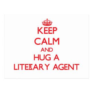 Keep Calm and Hug a Literary Agent Postcard