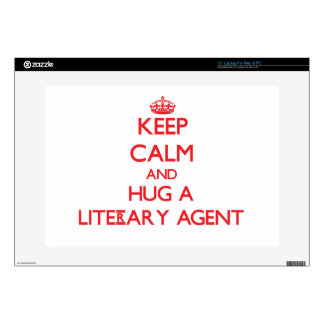 """Keep Calm and Hug a Literary Agent Skin For 15"""" Laptop"""