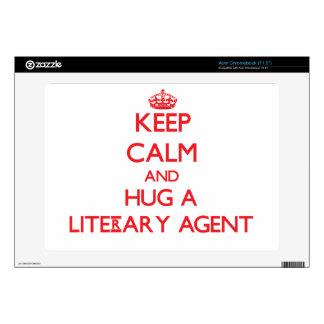 Keep Calm and Hug a Literary Agent Skin For Acer Chromebook