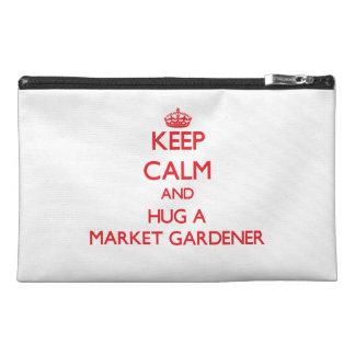 Keep Calm and Hug a Market Gardener Travel Accessory Bags