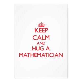 Keep Calm and Hug a Mathematician Cards