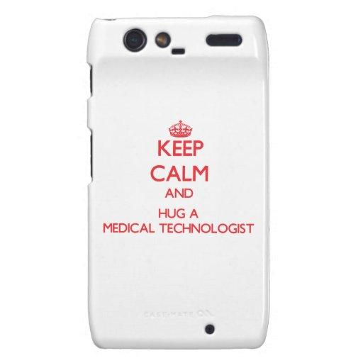 Keep Calm and Hug a Medical Technologist Motorola Droid RAZR Covers