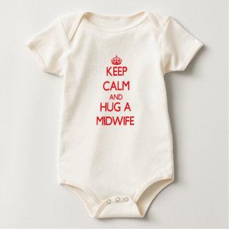 Keep Calm and Hug a Midwife Baby Bodysuit