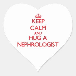 Keep Calm and Hug a Nephrologist Stickers