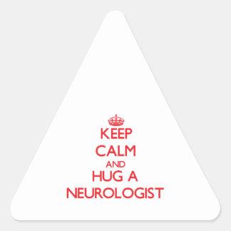 Keep Calm and Hug a Neurologist Stickers