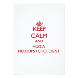 Keep Calm and Hug a Neuropsychologist Invites
