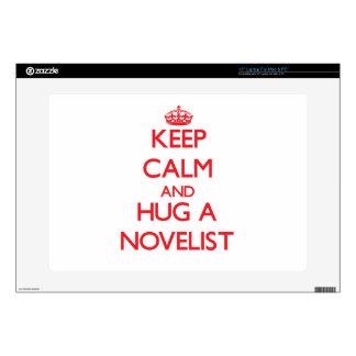 Keep Calm and Hug a Novelist Laptop Decals