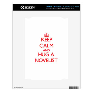 Keep Calm and Hug a Novelist Decals For The NOOK