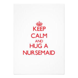 Keep Calm and Hug a Nursemaid Personalized Invites