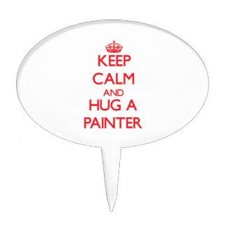 Keep Calm and Hug a Painter Cake Pick