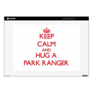 Keep Calm and Hug a Park Ranger Decal For Laptop