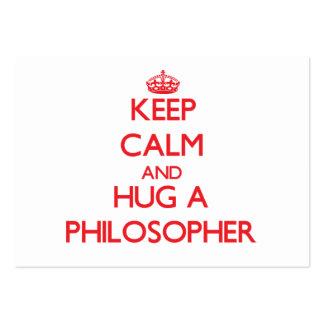 Keep Calm and Hug a Philosopher Business Card Template