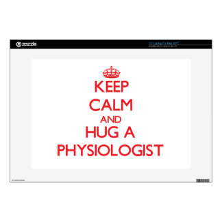 "Keep Calm and Hug a Physiologist Decals For 15"" Laptops"