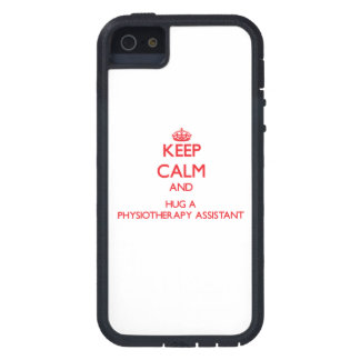 Keep Calm and Hug a Physiotherapy Assistant iPhone 5 Cases