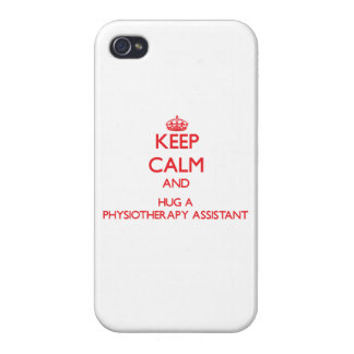 Keep Calm and Hug a Physiotherapy Assistant iPhone 4 Case