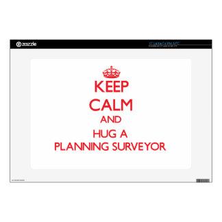 "Keep Calm and Hug a Planning Surveyor Skin For 15"" Laptop"