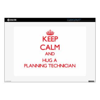 Keep Calm and Hug a Planning Technician Laptop Decal