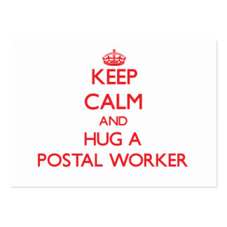 Keep Calm and Hug a Postal Worker Business Card Template