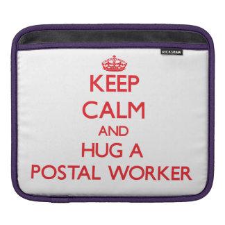 Keep Calm and Hug a Postal Worker Sleeves For iPads