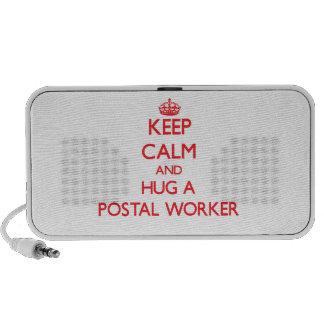 Keep Calm and Hug a Postal Worker Mini Speaker