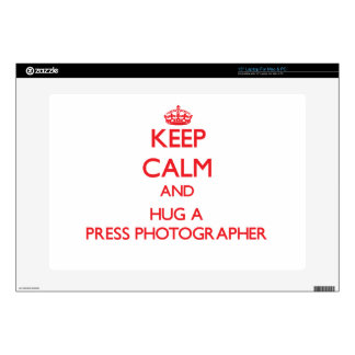 Keep Calm and Hug a Press Photographer Decals For Laptops