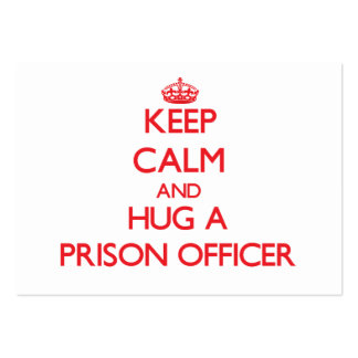Keep Calm and Hug a Prison Officer Business Card Templates