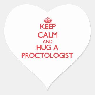 Keep Calm and Hug a Proctologist Stickers