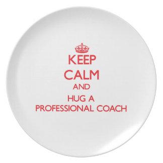 Keep Calm and Hug a Professional Coach Dinner Plates