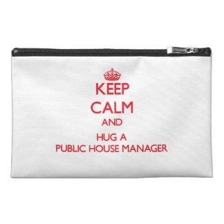Keep Calm and Hug a Public House Manager Travel Accessory Bag