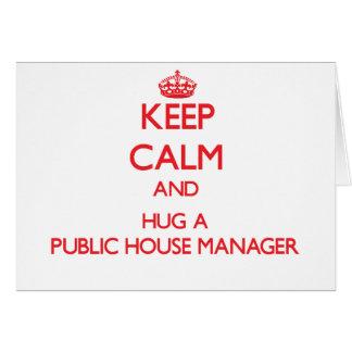 Keep Calm and Hug a Public House Manager Cards