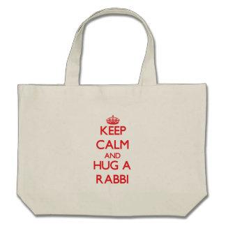 Keep Calm and Hug a Rabbi Bags