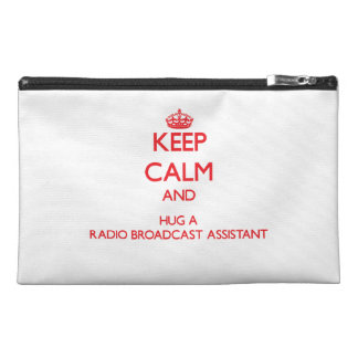 Keep Calm and Hug a Radio Broadcast Assistant Travel Accessory Bags