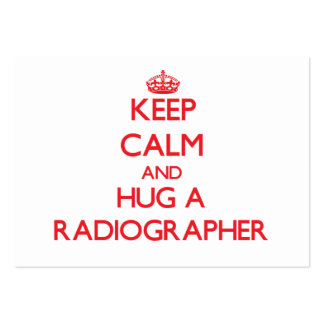 Keep Calm and Hug a Radiographer Large Business Cards (Pack Of 100)