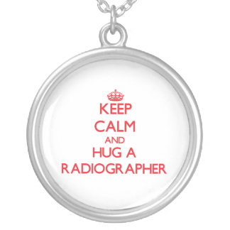 Keep Calm and Hug a Radiographer Round Pendant Necklace
