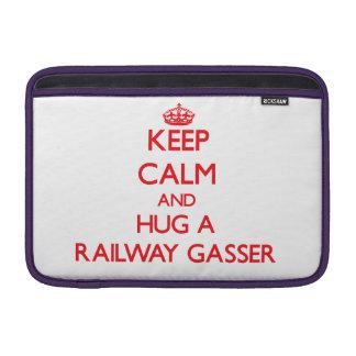 Keep Calm and Hug a Railway Gasser MacBook Sleeves