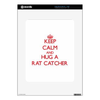 Keep Calm and Hug a Rat Catcher Decals For iPad