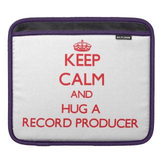 Keep Calm and Hug a Record Producer iPad Sleeve