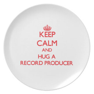 Keep Calm and Hug a Record Producer Party Plate