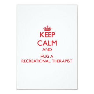 Keep Calm and Hug a Recreational Therapist Custom Invitation