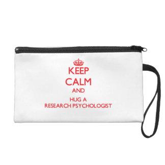 Keep Calm and Hug a Research Psychologist Wristlet Purse