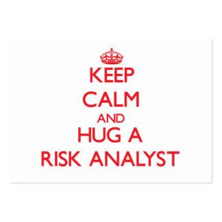 Keep Calm and Hug a Risk Analyst Business Cards
