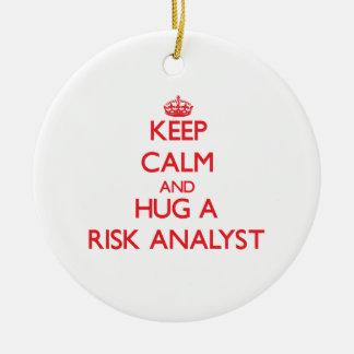 Keep Calm and Hug a Risk Analyst Christmas Tree Ornament