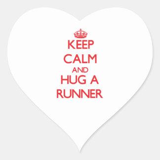 Keep Calm and Hug a Runner Sticker