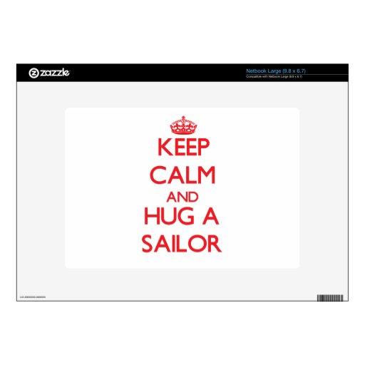 Keep Calm and Hug a Sailor Netbook Decals