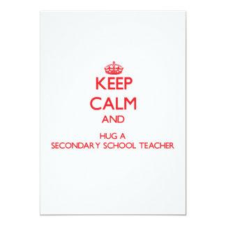 Keep Calm and Hug a Secondary School Teacher Personalized Invite