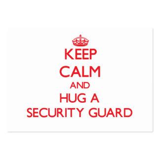 Keep Calm and Hug a Security Guard Business Card